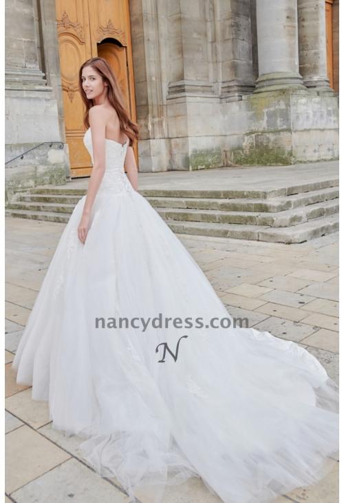 bas prix d1ae1 d965d robe mariage simple blanc cassé bustier en dentelle